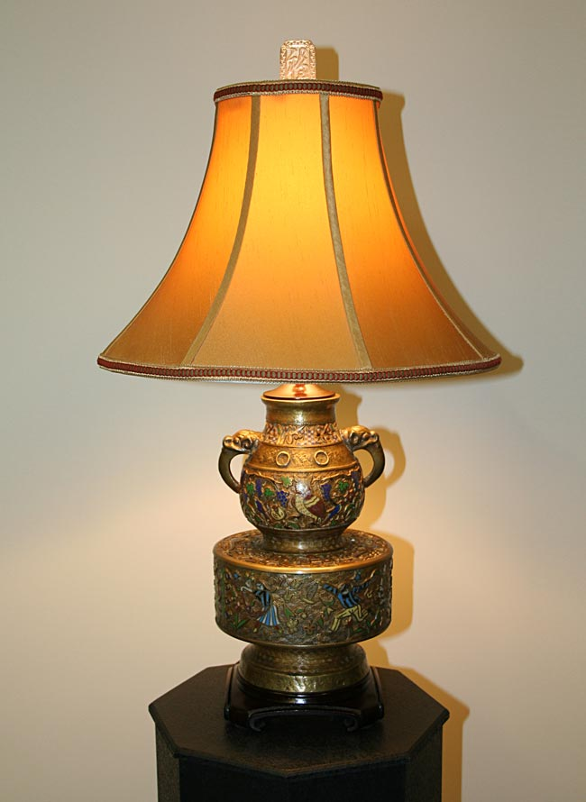 Champlev 233 Table Lamp C 19th Century