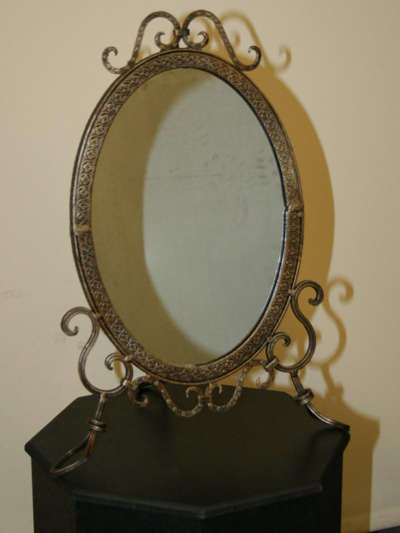 Oval Arts Amp Crafts Easel Back Mirror C 1920