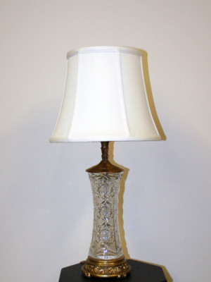 Vintage Crystal Table Lamp Bases Antique Table Lamps