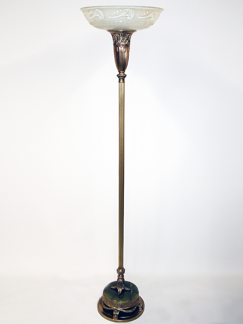Picture of: Vintage Torchiere W Ornate Brass Base C 1930