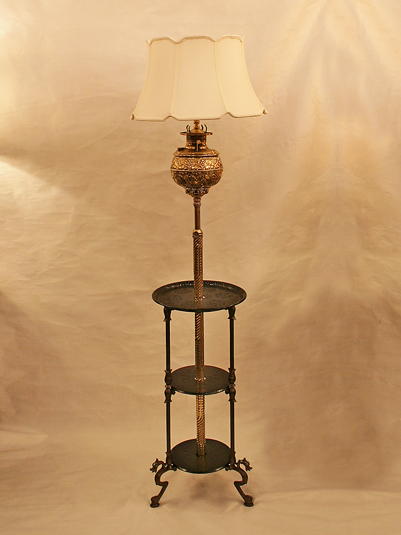 Bradley Amp Hubbard Converted Oil To Electric Floor Lamp W