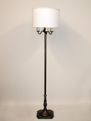 ... Vintage Six Way Floor Lamp W/ Clean Design, Two Tone Painted Finish,