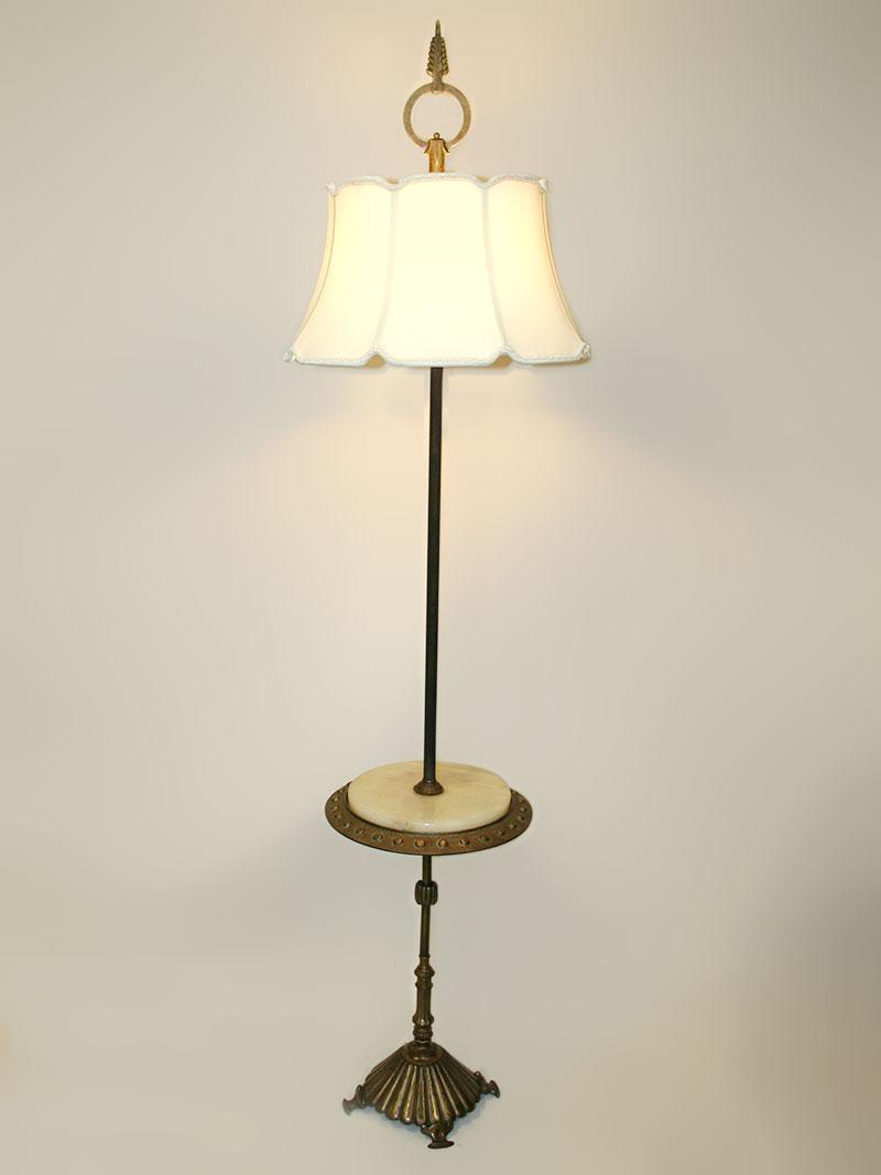 1925 Spectacular Table Floor Lamp W Art Deco Influence Onyx