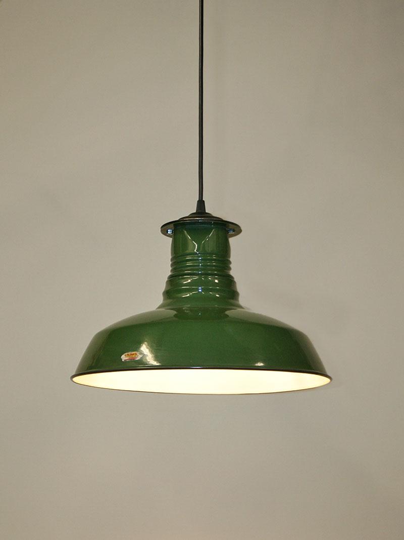 e55ffa9fb6c7 Vintage Industrial Green Enamel Benjamin Shop Light, c. 1945